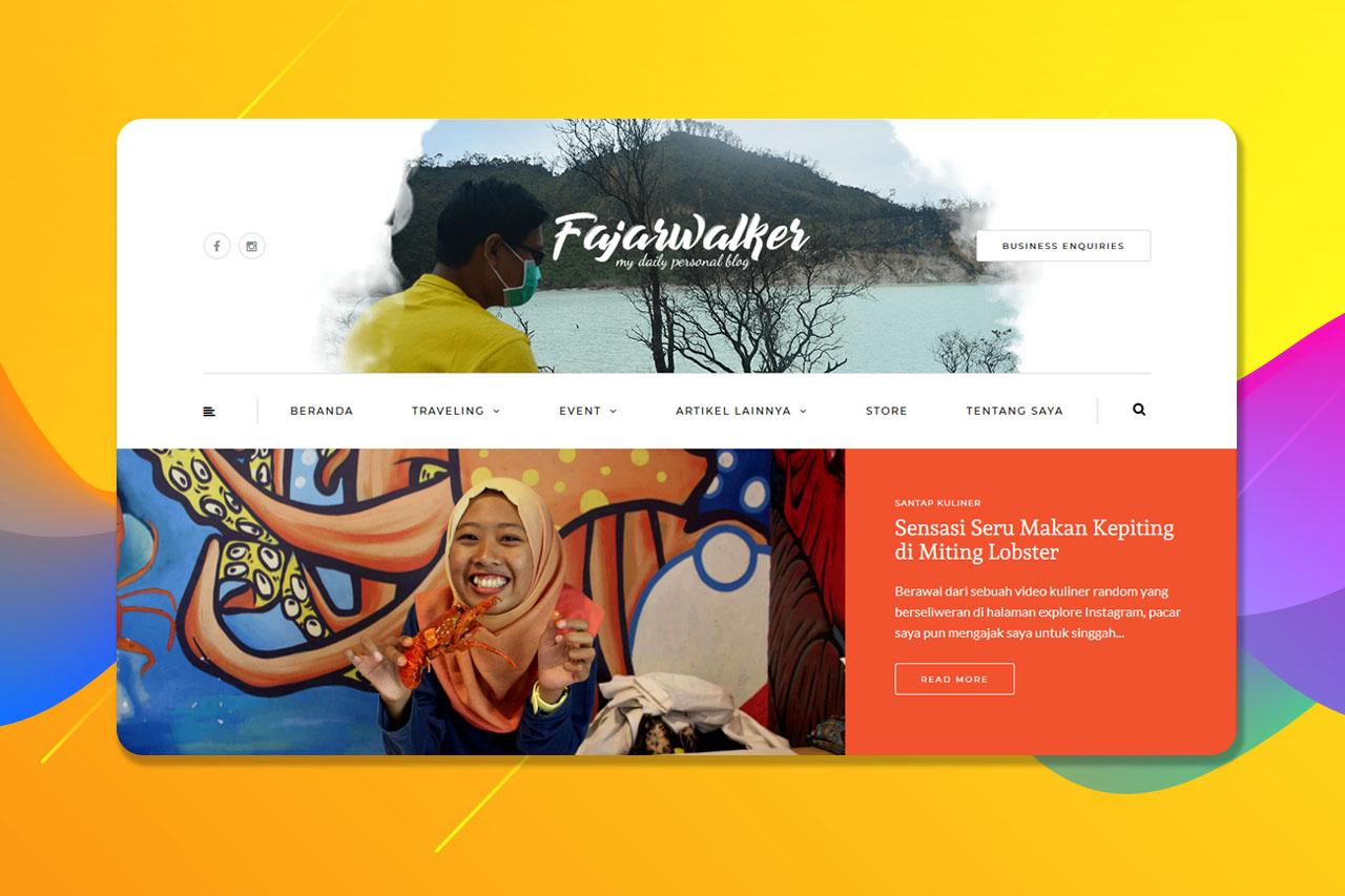 Fajarwalker.com – Personal Website